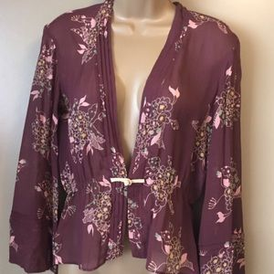 Marc Jacobs Mauve Silk Kimono Jacket Size 8